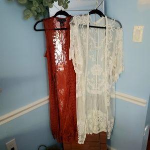 2 for 1 boho lace kimonos